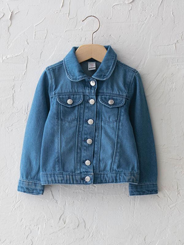 Gömlek Yaka Basic Kız Bebek Jean Ceket - LC WAIKIKI