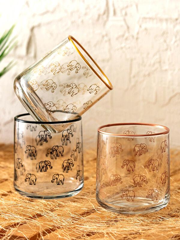 Baskılı Su Bardağı 3'Lü - LCW HOME