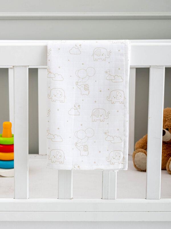 Baskılı Erkek Bebek Müslin Battaniye - LCW HOME