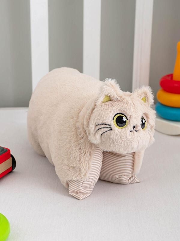 Pelüş Dolgulu Nakışlı Bebek Kedi Kırlent - LCW HOME