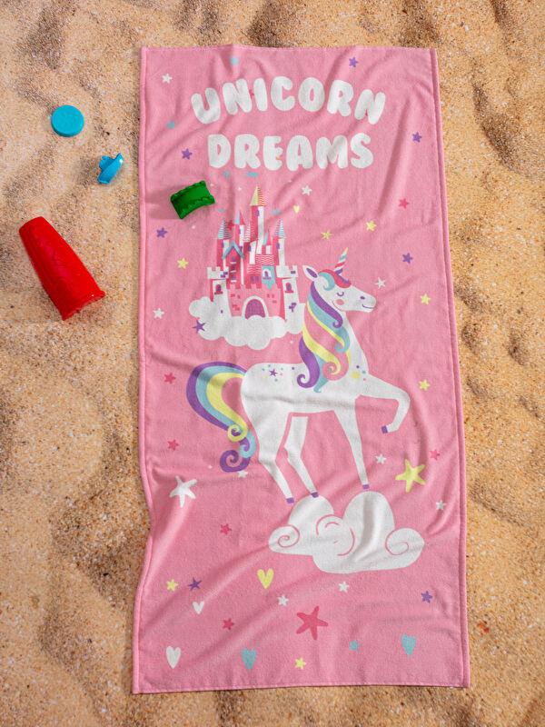 Baskılı Kız Çocuk Plaj Havlusu - LCW HOME