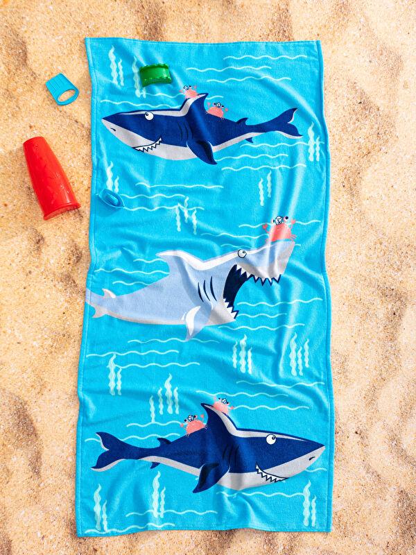 Köpek Balığı Baskılı Erkek Çocuk Plaj Havlusu 70x150 Cm - LCW HOME