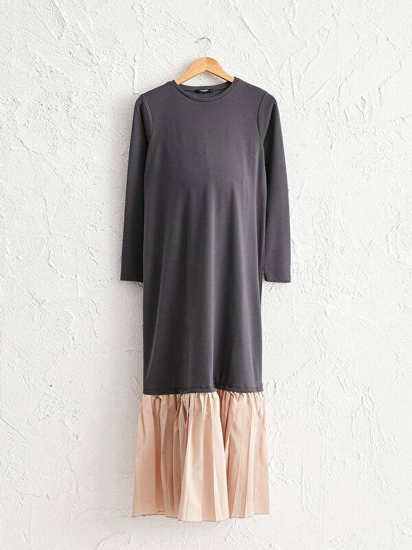 Pile Detaylı Uzun Hamile Elbise - LC WAIKIKI