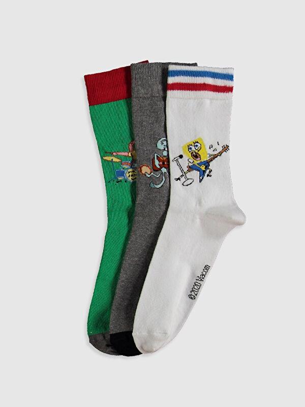Sünger Bob Baskılı Soket Çorap 3'lü - LC WAIKIKI