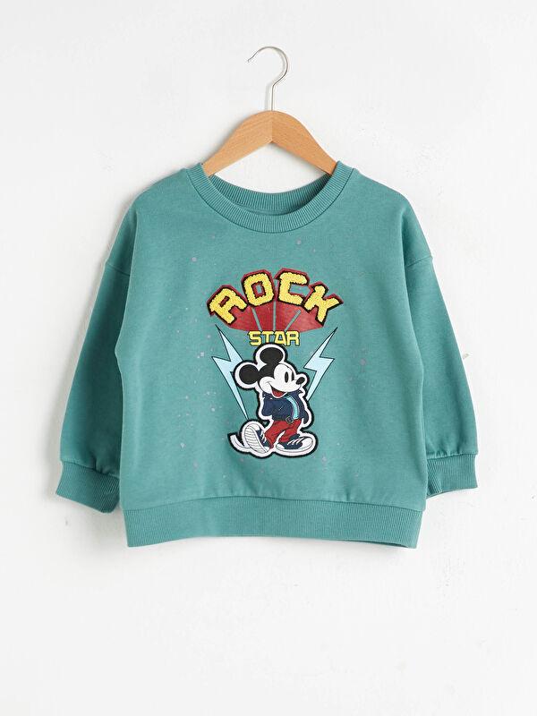 Erkek Bebek Mickey Mouse Baskılı Sweatshirt - LC WAIKIKI
