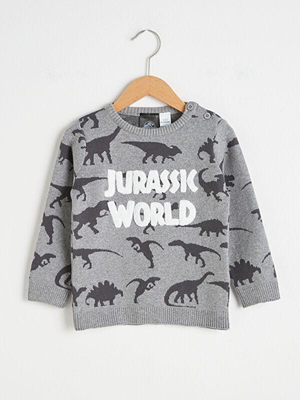 Erkek Bebek Jurassic World Desenli Triko Kazak - LC WAIKIKI