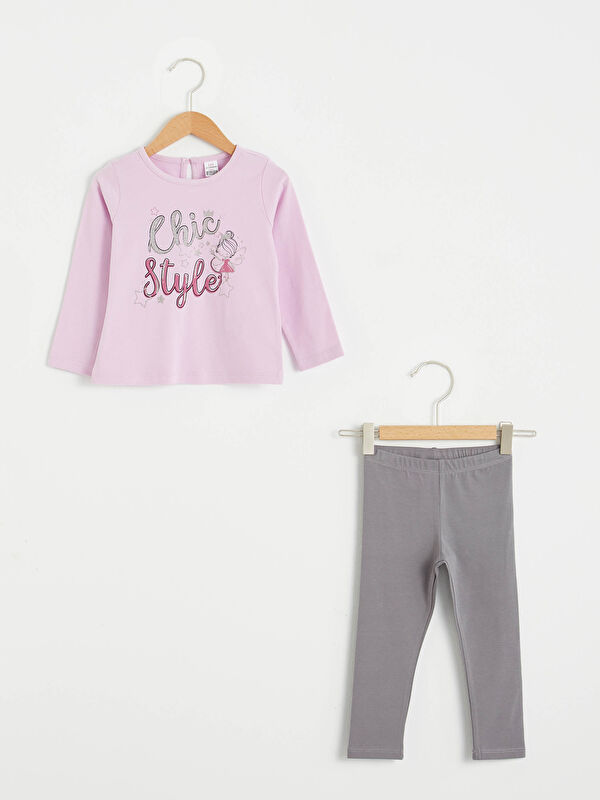 Kız Bebek Tişört ve Tayt Takım - LC WAIKIKI
