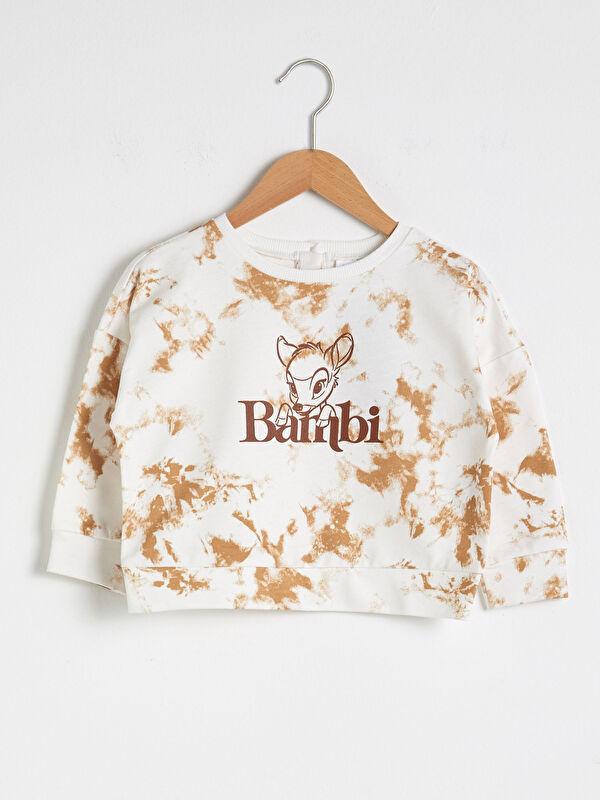 Kız Bebek Bambi Desenli Sweatshirt Anne Kız Kombini - LC WAIKIKI