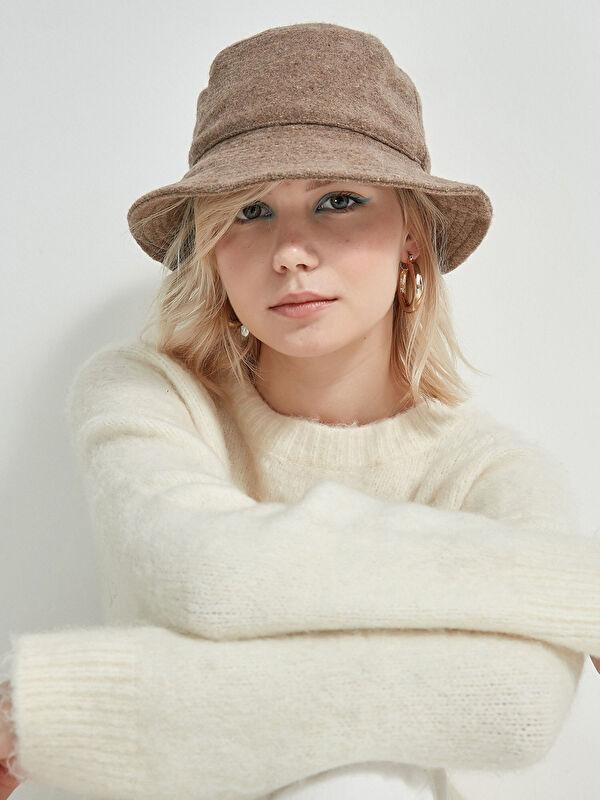 AXESOIRE Kaşe Vizon Bucket Şapka - Markalar