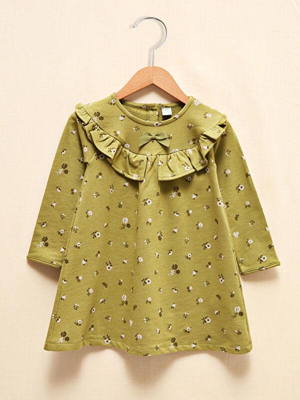 LCW GREEN Kız Bebek Baskılı Elbise - LC WAIKIKI