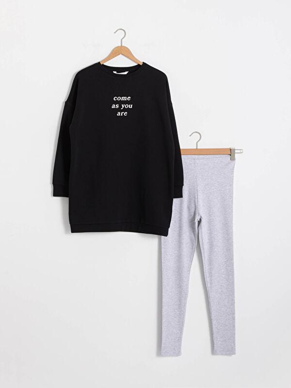 Slogan Baskılı Pamuklu Pijama Takımı - LC WAIKIKI