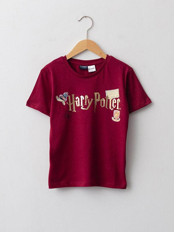 Bisiklet Yaka Harry Potter Baskılı Kısa Kollu Erkek Çocuk Tişört - LC WAIKIKI