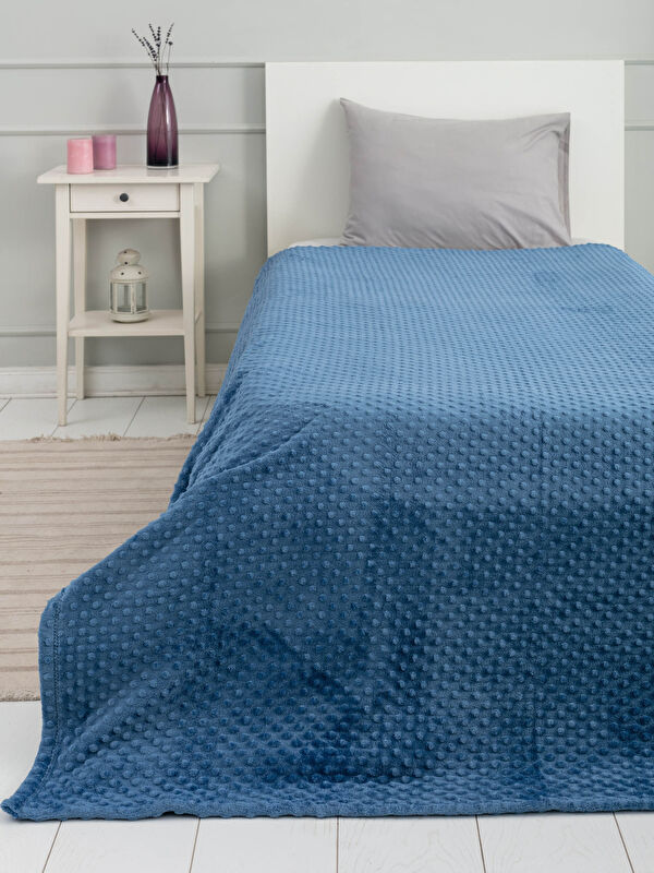 Tek Kişilik Tomurcuk Desenli Well Soft Battaniye 150x220 Cm - LCW HOME