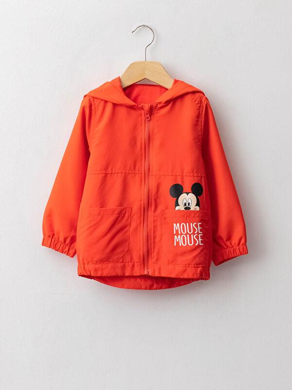 Kapüşonlu Uzun Kol Mickey Mouse Baskılı Erkek Bebek Mont - LC WAIKIKI