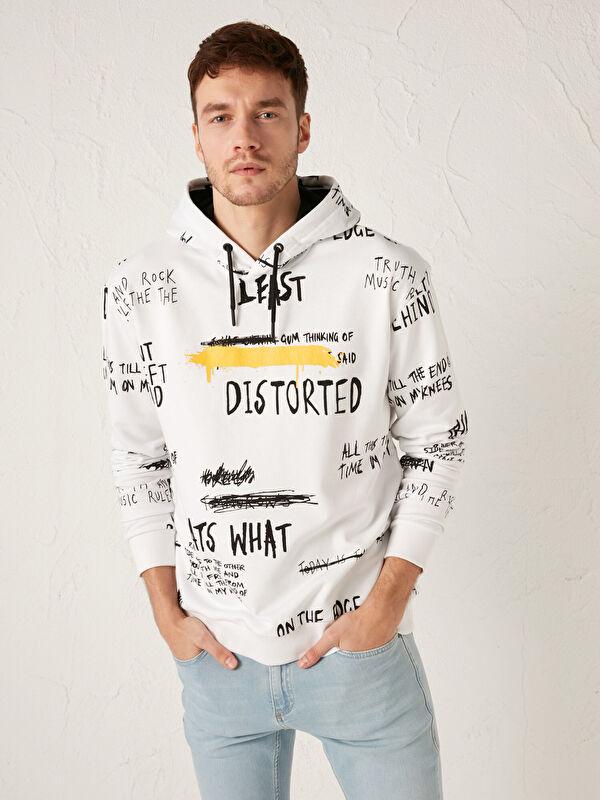 Kapüşonlu Uzun Kollu Basic Kalın Erkek Sweatshirt - LC WAIKIKI