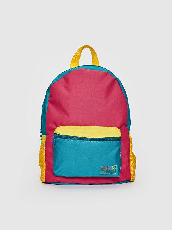 Kız Çocuk Renk Bloklu Sırt Çantası - LC WAIKIKI