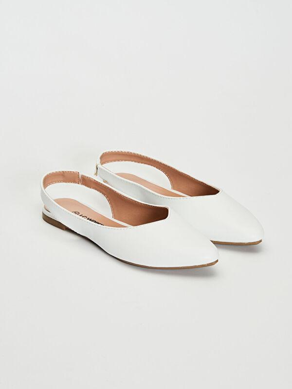 Kadın Parlak Görünümlü Babet Ayakkabı - LC WAIKIKI