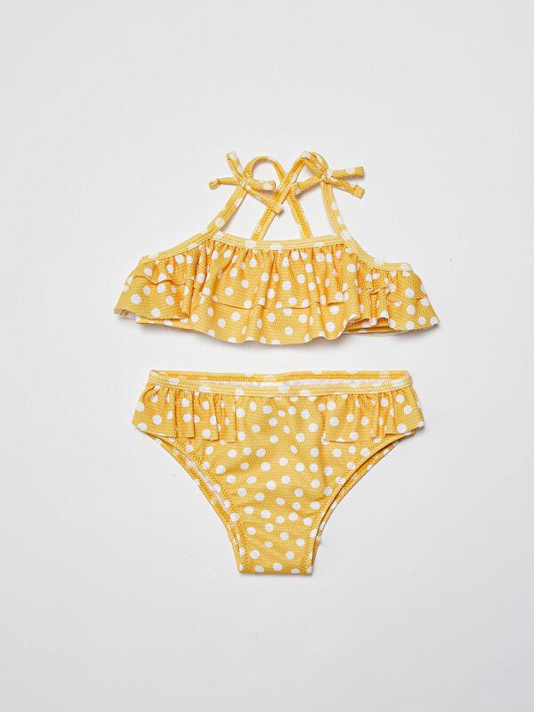 Esnek Kumaştan Desenli Kız Bebek Bikini Takımı - LC WAIKIKI