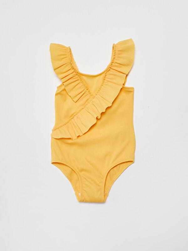 Esnek Kumaştan Fırfır Detaylı Kız Bebek Mayo - LC WAIKIKI