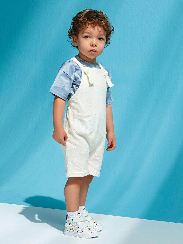 Basic Organik Pamuklu Erkek Bebek Salopet - LC WAIKIKI