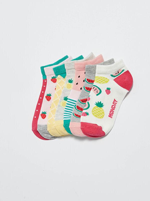 Kız Çocuk Patik Çorap 7'li - LC WAIKIKI