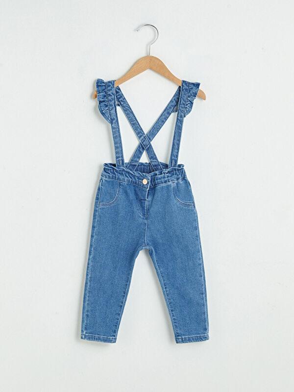 Basic Kız Bebek Jean Pantolon ve Pantolon Askısı - LC WAIKIKI