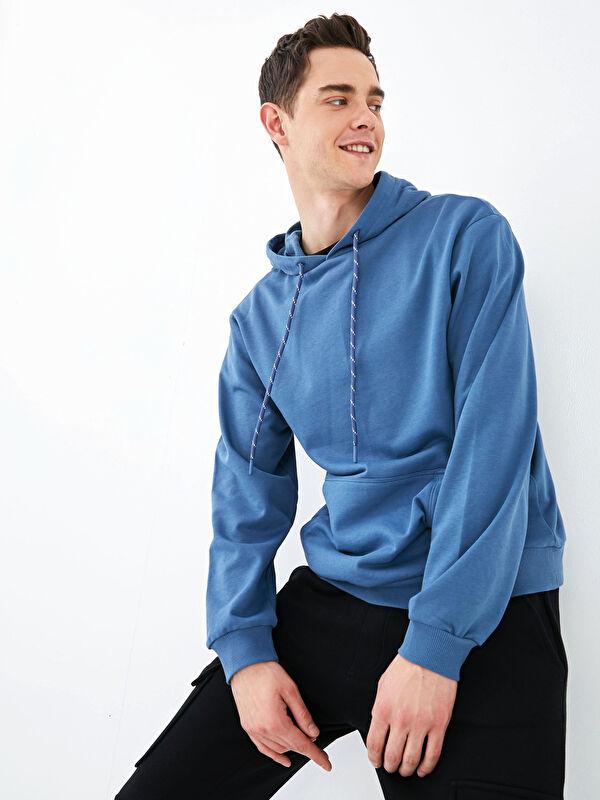 XSIDE Kapüşonlu Uzun Kollu Erkek Sweatshirt - LC WAIKIKI