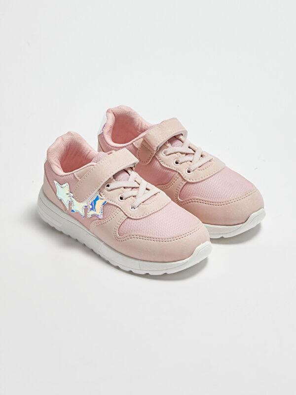 File Detaylı Cırt Cırtlı Kız Çocuk Spor Ayakkabı - LC WAIKIKI
