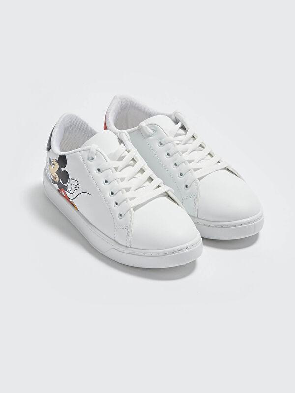 Mickey Mouse Lisanslı Bağcıklı Kadın Ayakkabı - LC WAIKIKI