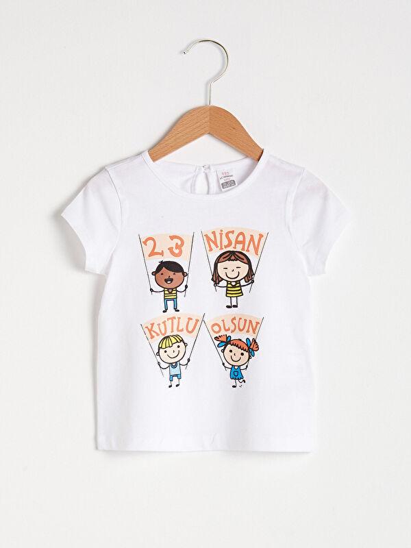 Kız Bebek 23 Nisan Baskılı Tişört - LC WAIKIKI