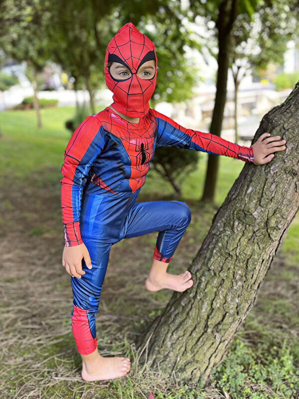 Bisiklet Yaka Uzun Kollu Erkek Çocuk Spiderman Kostüm - LC WAIKIKI