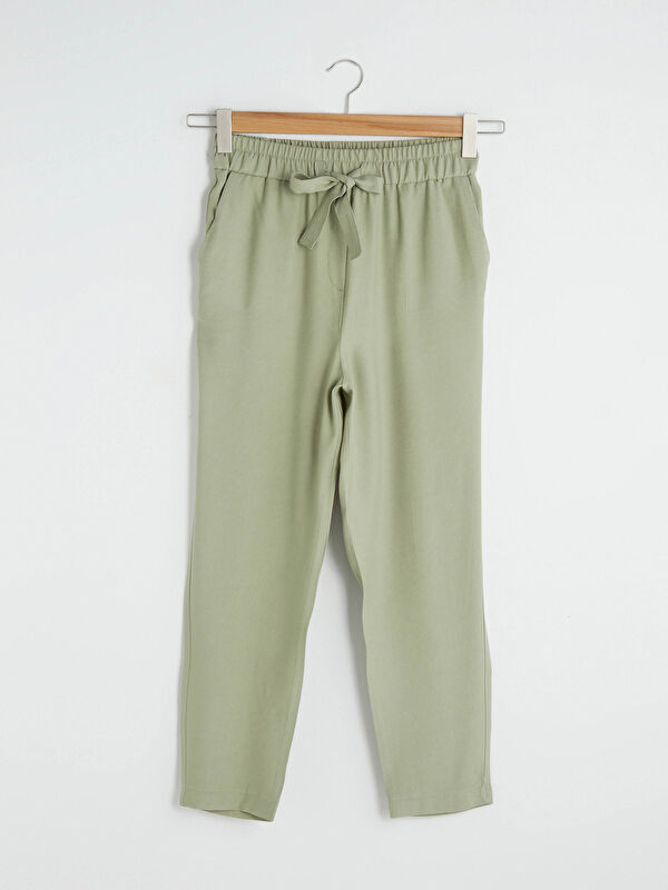 LCW VISION Beli Lastikli Yüksek Bel Bilek Boy Kadın Pantolon - LC WAIKIKI