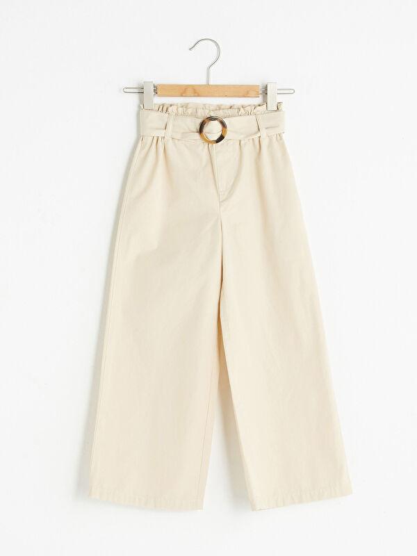 Beli Lastikli Basic Geniş Paça Kız Çocuk Pantolon - LC WAIKIKI