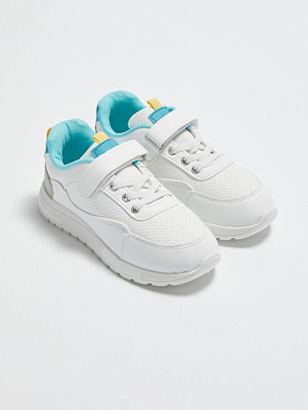 Bağcıklı File Detaylı Erkek Çocuk Spor Ayakkabı - LC WAIKIKI