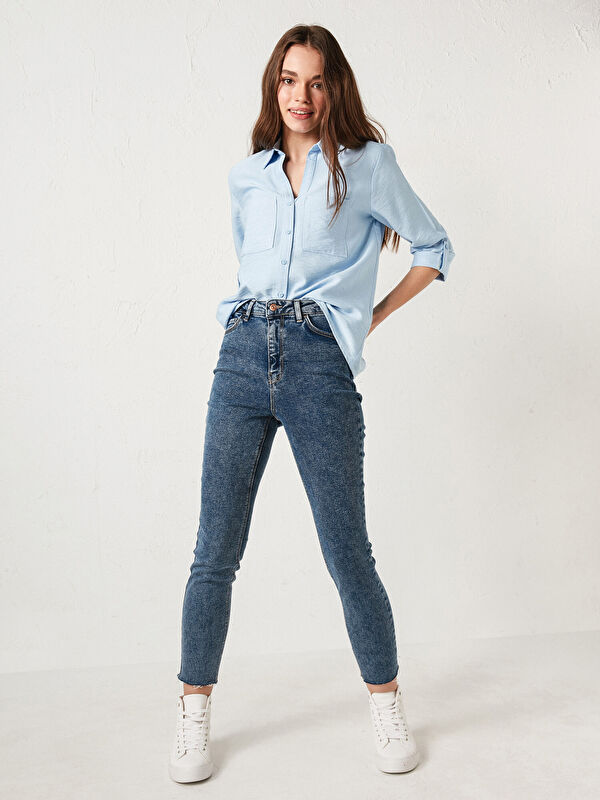 Yüksek Bel Ekstra Dar Fit Kadın Rodeo Jean Pantolon - LC WAIKIKI