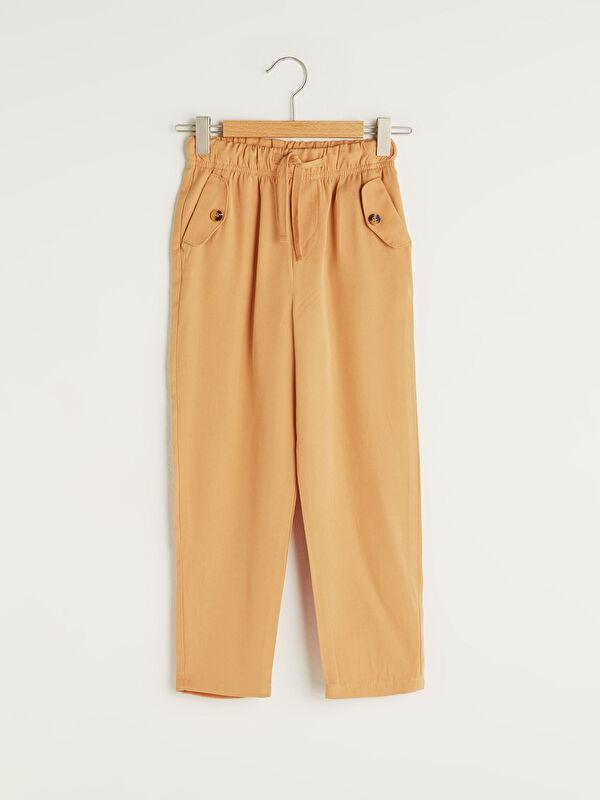 Beli Lastikli Basic Kız Çocuk Pantolon - LC WAIKIKI
