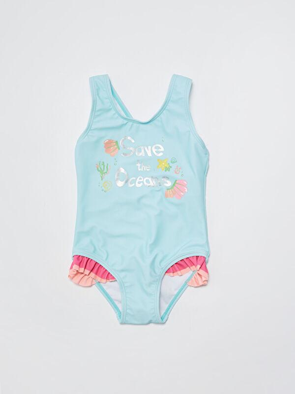 Esnek Kumaştan Baskılı Kız Bebek Mayo - LC WAIKIKI