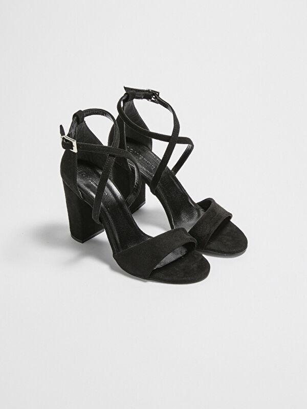 Çapraz Bantlı Süet Kadın Topuklu Ayakkabı - LC WAIKIKI