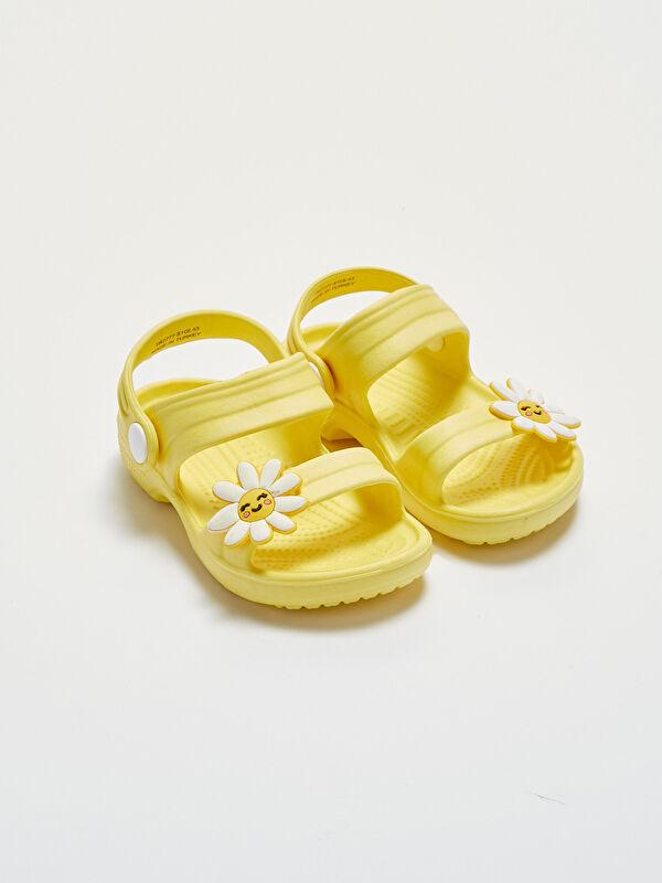 Çiçek Aplikeli Kız Bebek Sandalet - LC WAIKIKI