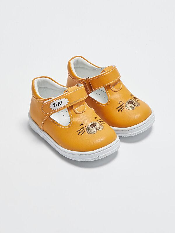 Cırt Cırtlı Erkek Bebek İçi Deri Astarlı İlk Adım Ayakkabısı - LC WAIKIKI