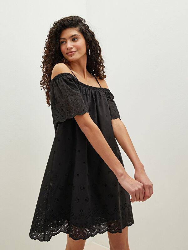 LCW CASUAL Askılı Desenli Vual Kumaş Kadın Elbise - LC WAIKIKI