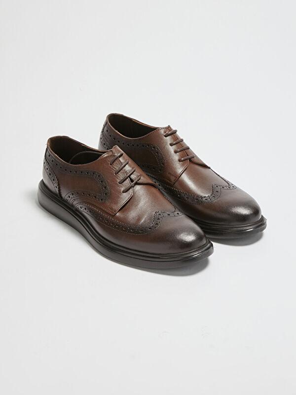 Hakiki Deri Bağcıklı Erkek Klasik Ayakkabı - LC WAIKIKI