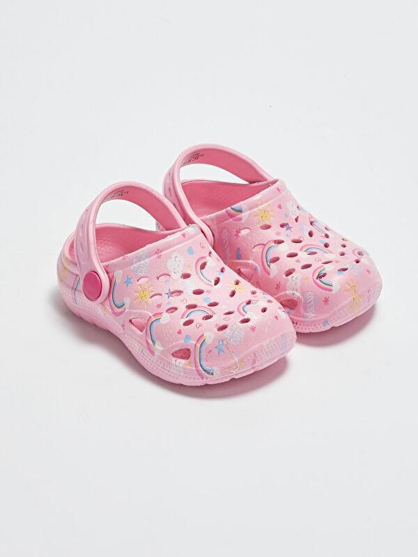 Baskılı Kız Bebek Plaj Sandaleti - LC WAIKIKI