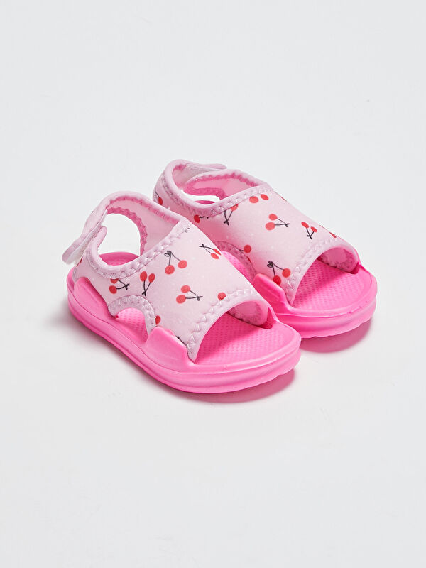 Baskılı Kız Bebek Sandalet - LC WAIKIKI