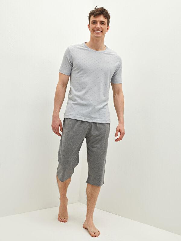 Standart Kalıp Diz Altı Boy Şortlu Erkek Pijama Takımı - LC WAIKIKI