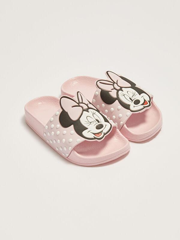 Minnie Mouse Lisanslı Tek Bantlı Kız Çocuk Terlik - LC WAIKIKI
