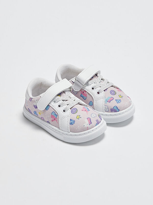 Baskılı Cırt Cırtlı Kız Bebek Spor Ayakkabı - LC WAIKIKI