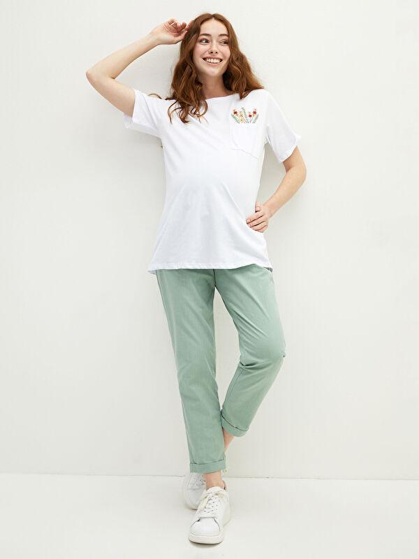 Karın Panelli Düz Cep Detaylı Pamuklu Hamile Harem Pantolon - LC WAIKIKI