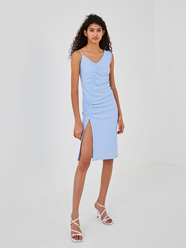 LCW LIMITED V Yaka Kolsuz Düz Kadın Elbise - LC WAIKIKI
