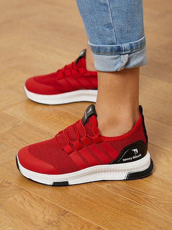 Tonny Black File Detaylı Bağcıklı Erkek Çocuk Aktif Spor Ayakkabı - Markalar